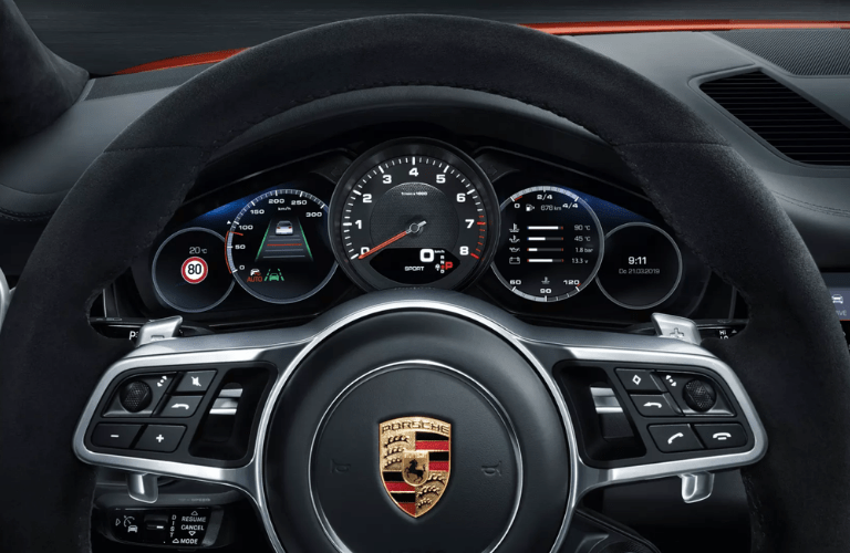 2019 Porsche Cayenne Coupe view of the steering wheel