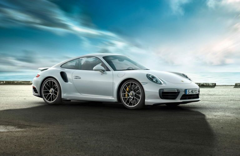 2019 Porsche 911 Turbo parked by water