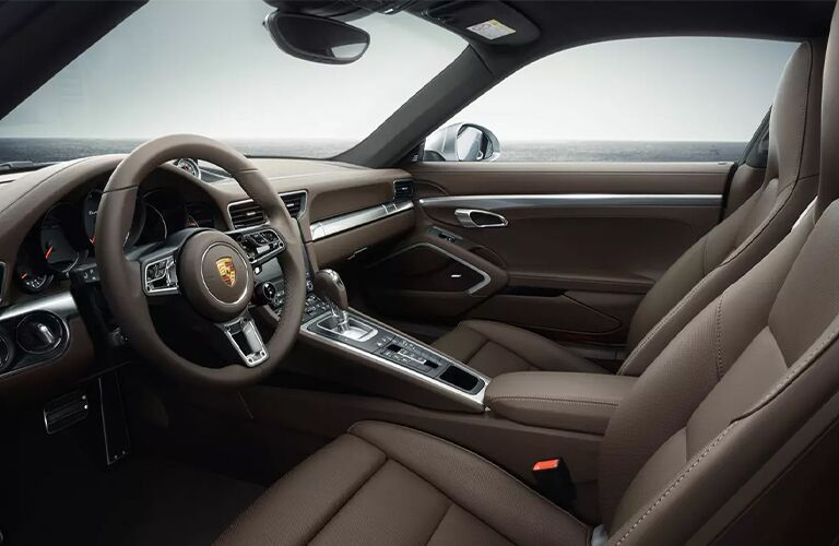 2020 Porsche 911 Turbo interior side view of dashboard area
