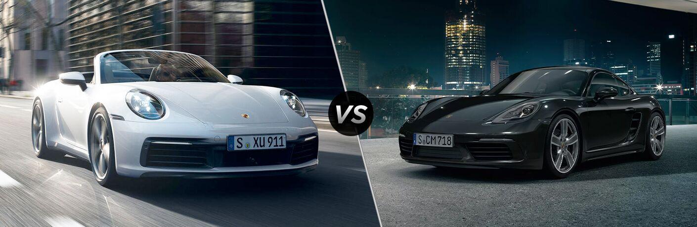 2020 Porsche 911 vs 2020 Porsche 718