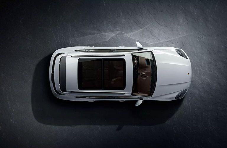top view of the 2020 Porsche Cayenne E-Hybrid