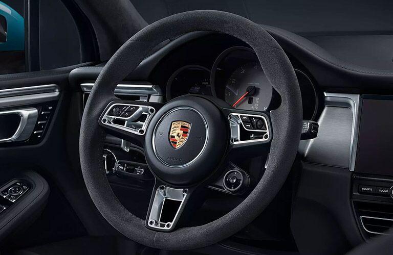 Steering wheel in the 2020 Porsche Macan