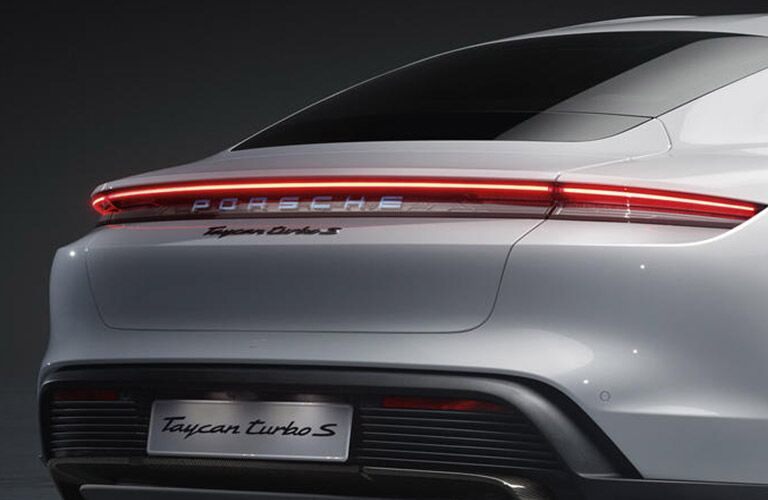 2020 Porsche Taycan rear fascia close up