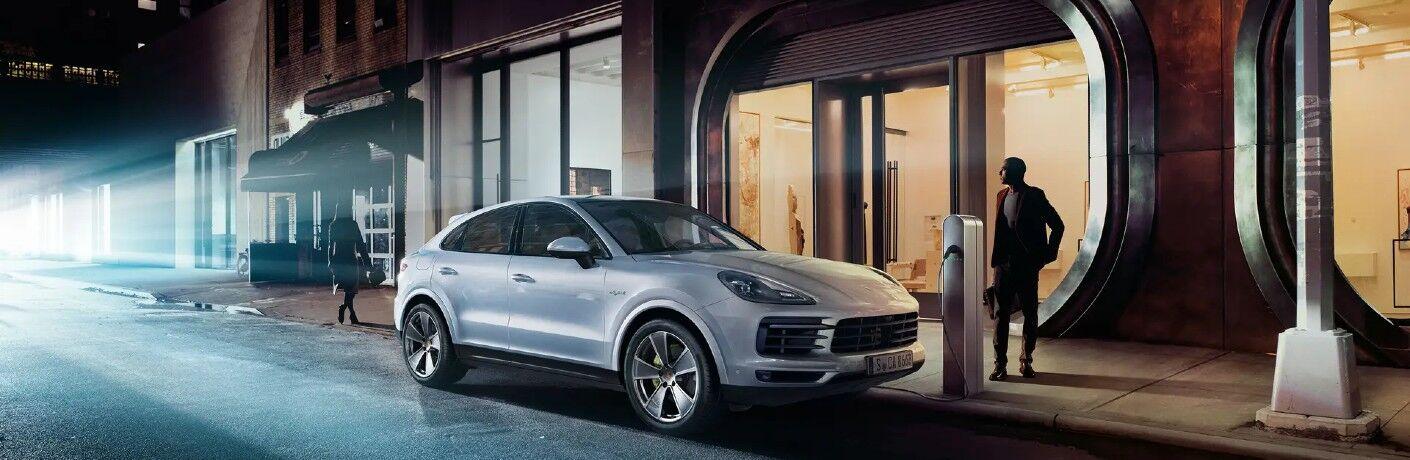 2020 Porsche Cayenne E-Hybrid plugged in