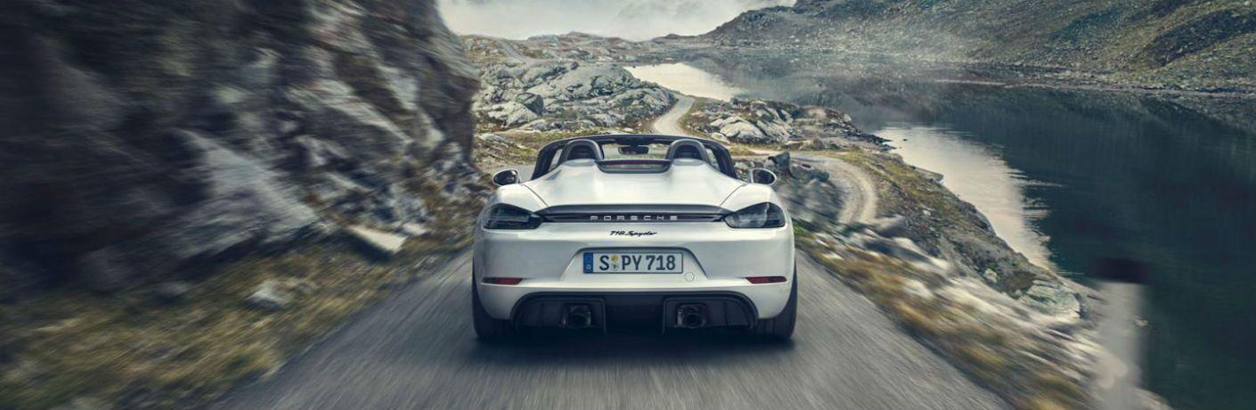 2020 Porsche 718 Spyder on the road