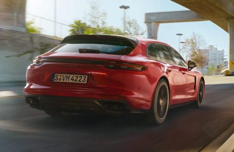 2020 Porsche Panamara GTS red back view