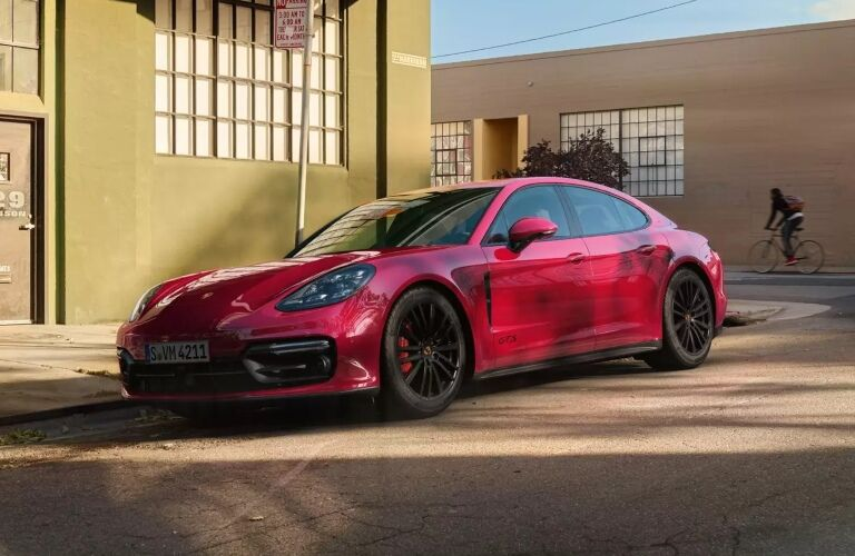 2020 Porsche Panamara GTS red front side view
