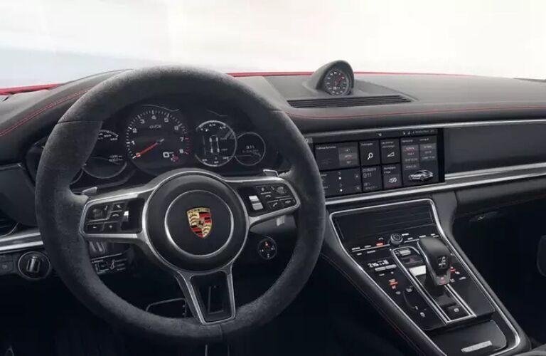 2020 Porsche Panamara GTS steering wheel and dash
