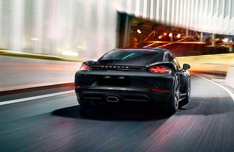 2021 Porsche 718 Cayman driving away