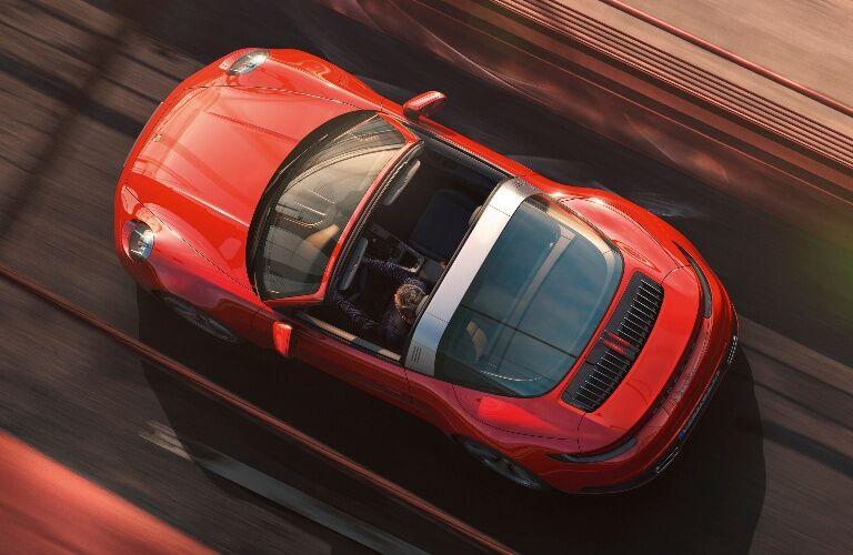 2021 Porsche 911 Targa 4 bird's eye view