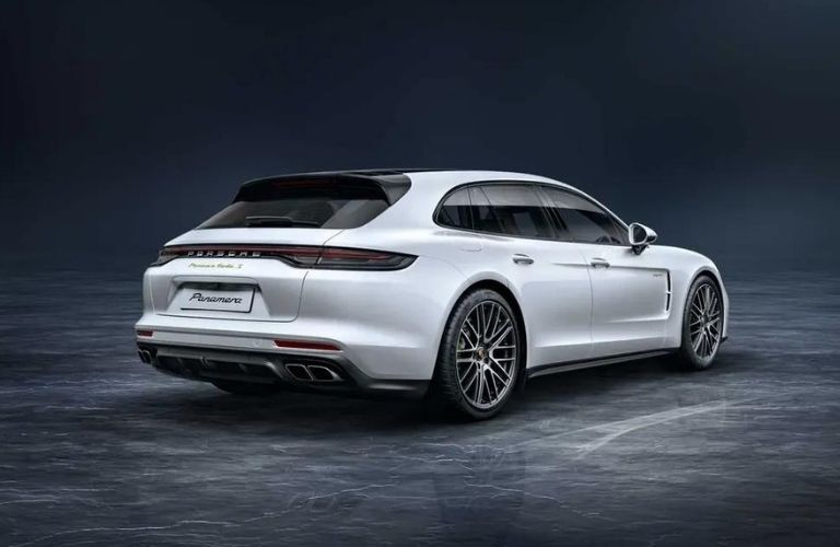 2021 Porsche Panamera Turbo S back and side look