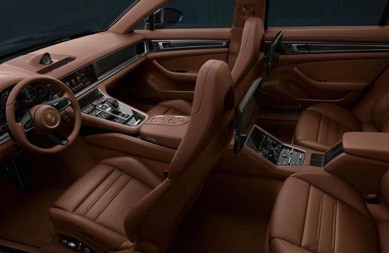 2021 Porsche Panamera Turbo S interior cabin view