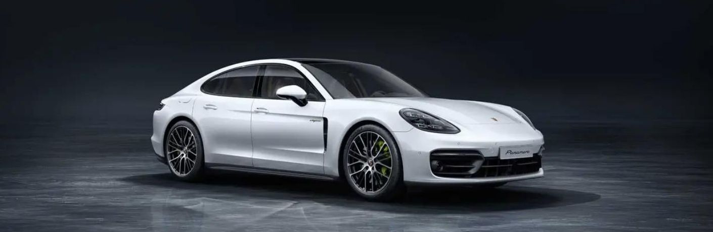 2021 Porsche Panamera Turbo S side and front view