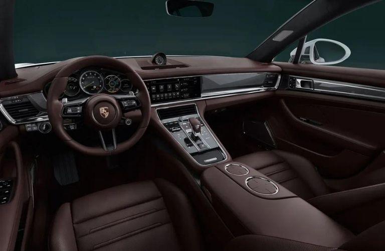 2021 Porsche Panamera Turbo S front interior