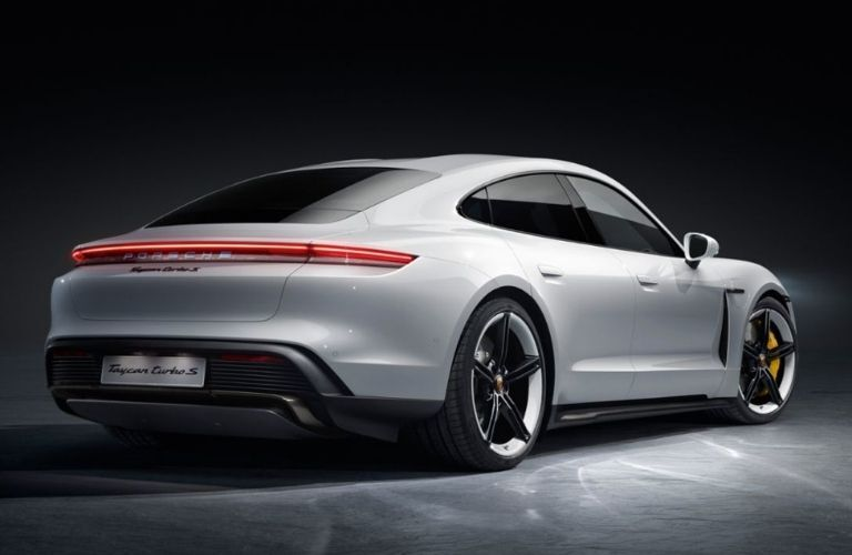 2021 Porsche Taycan back and side look