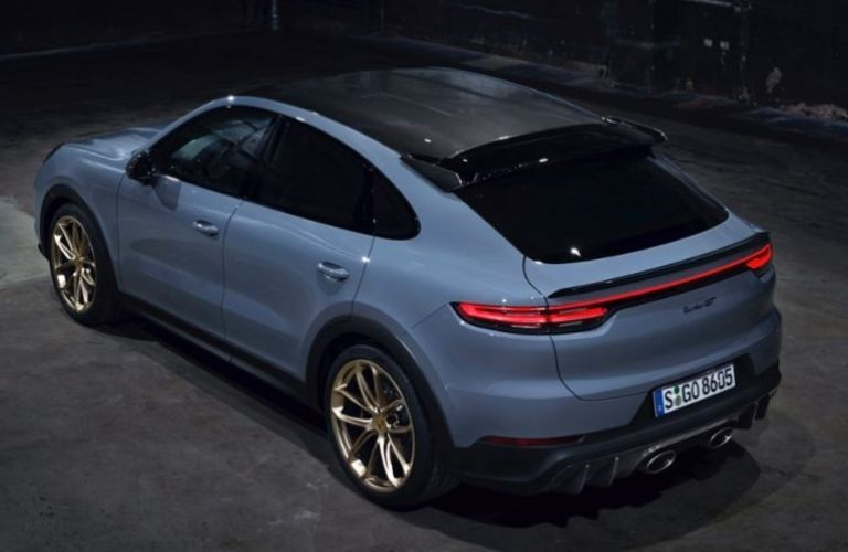 2022 Porsche Cayenne Turbo GT top and back view