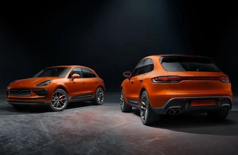 2022 Porsche Macan front and back view
