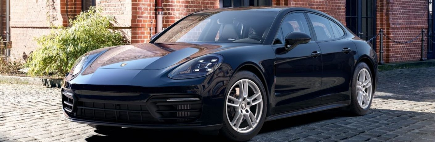 2022 Porsche Panamera front and side view