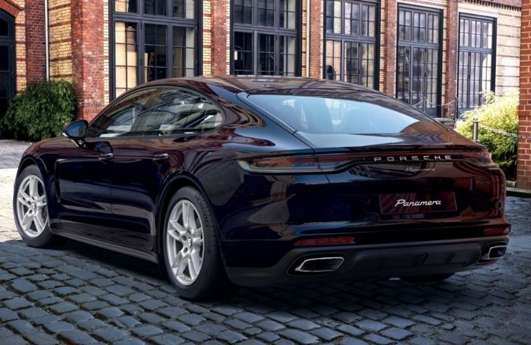 2022 Porsche Panamera back and side view