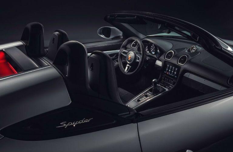 2020 Porsche 718 Spyder interior profile