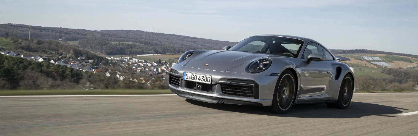 A front left photo of the 2021 Porsche 911 Turbo S.