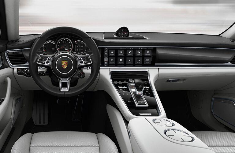 An interior photo of the 2019 Porsche Panamera.
