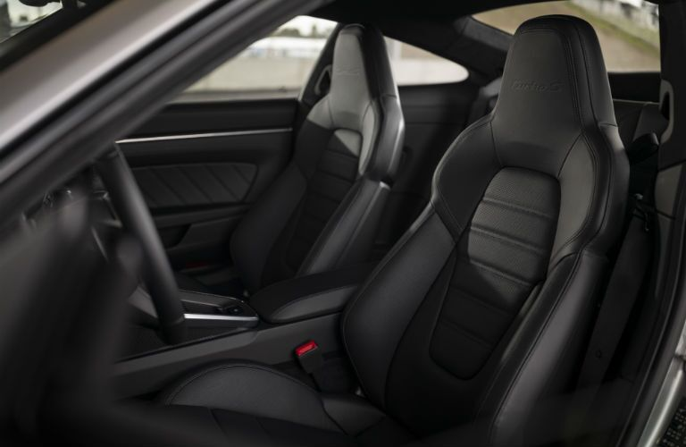 A photo of the front seats in the 2021 Porsche 911 Turbo S.