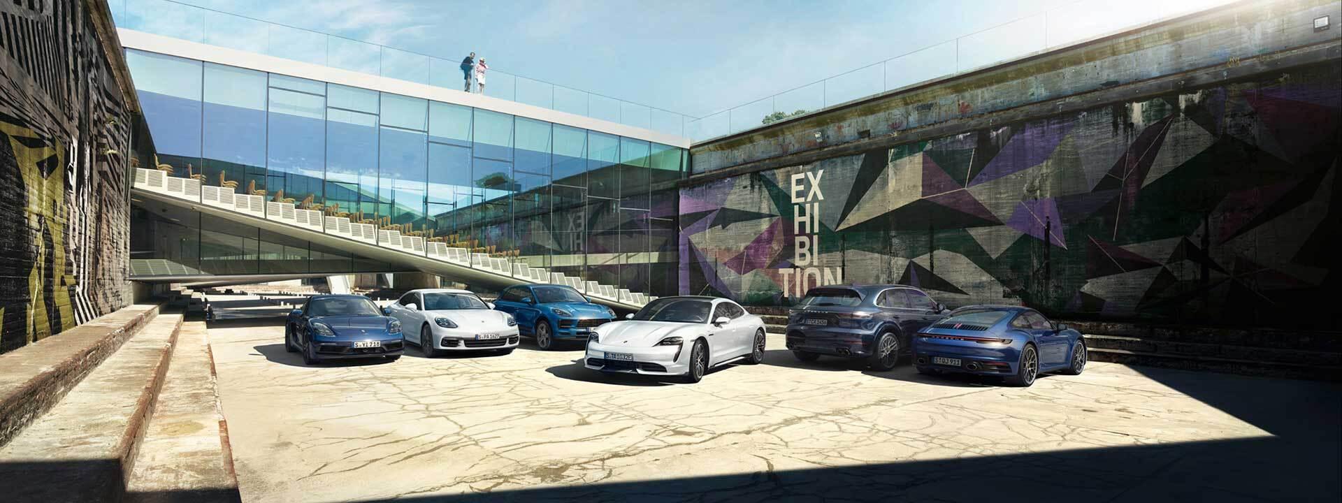 The Porsche lineup in Newark, DE