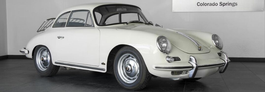 1962 Porsche 356 B Notchback on Porsche of Colorado Springs showroom floor