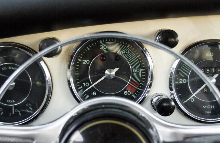 1962 Porsche 356 B Notchback instrument panel