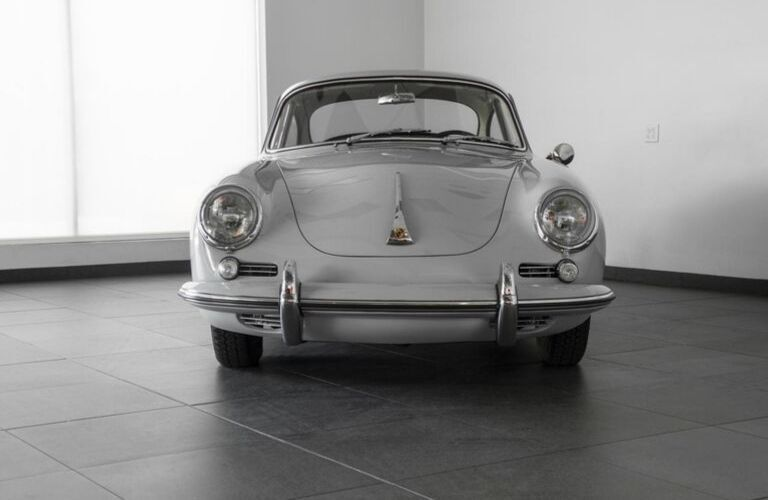 Grey 1964 Porsche 356 C Front Exterior in Porsche of Colorado Spring Showroom