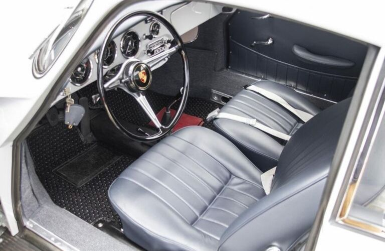 1964 Porsche 356 C Steering Wheel and Front Interior