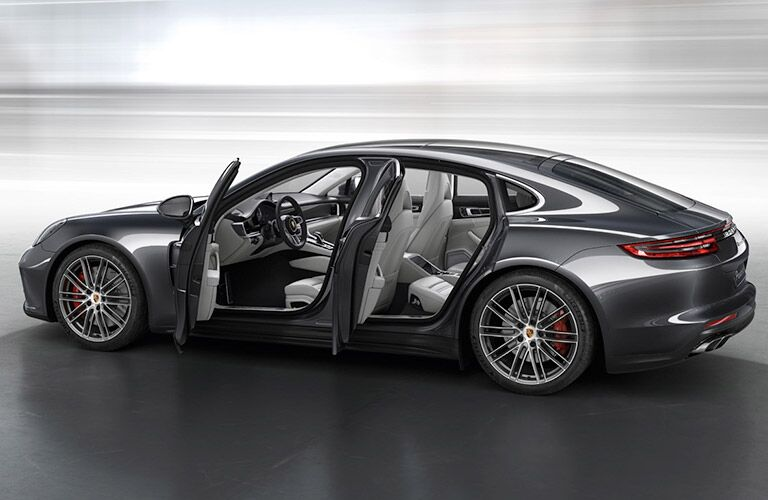 2018 Porsche Panamera with the doors open