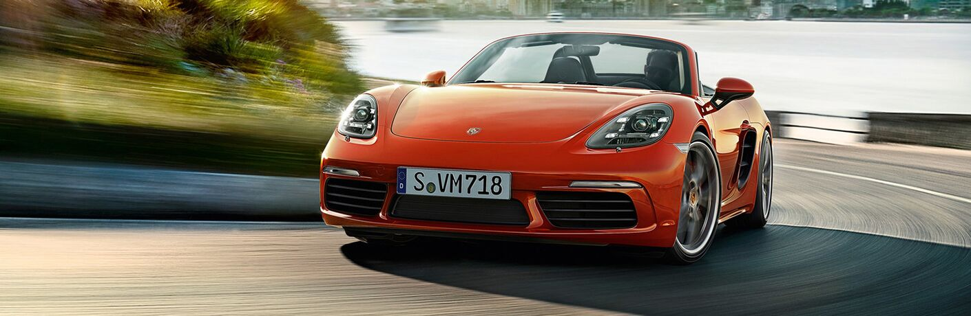2019 Porsche 718 Boxster on the road