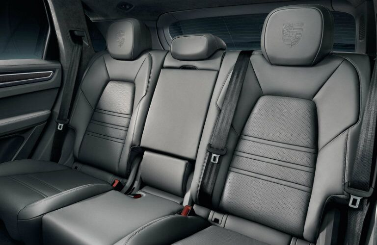 Rear seating in 2019 Porsche Cayenne