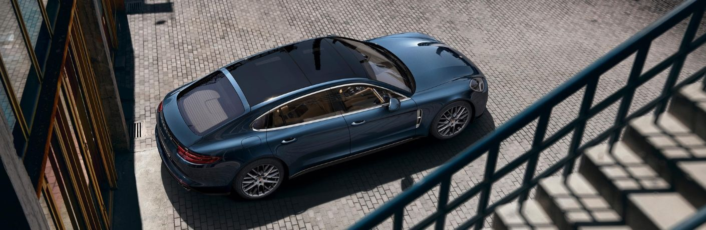 2019 Porsche Panamera viewed from above