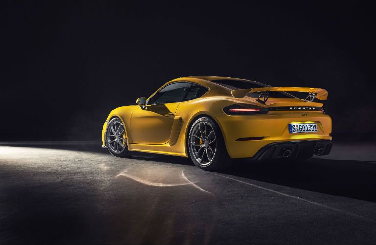 2020 Porsche 718 Cayman GT4 Exterior Driver Side Rear Profile