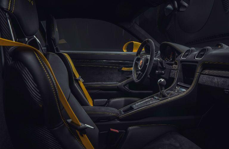2020 Porsche 718 Cayman GT4 Interior Cabin Front Seats & Dashboard
