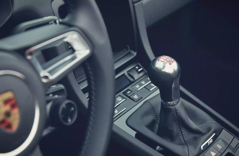 Gear shifter in 2020 Porsche 718 Cayman T