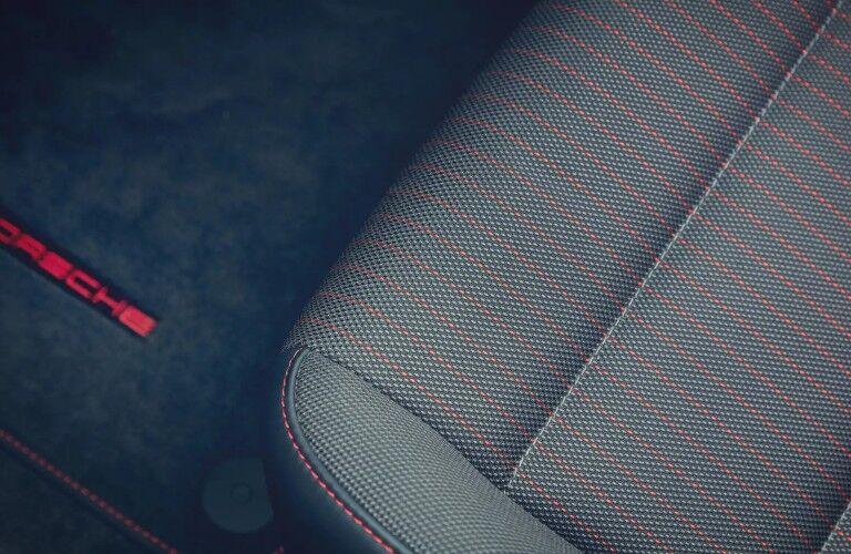 Closeup of seat in 2020 Porsche 718 Cayman T