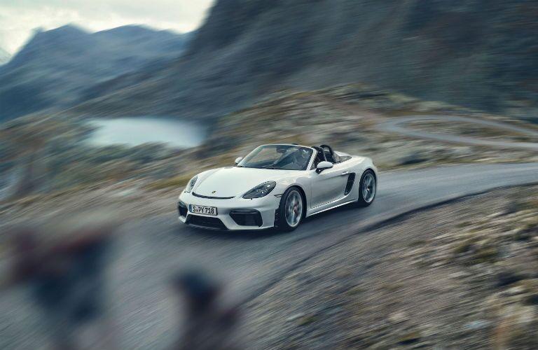 2020 Porsche 718 Spyder Exterior Driver Side Front Profile