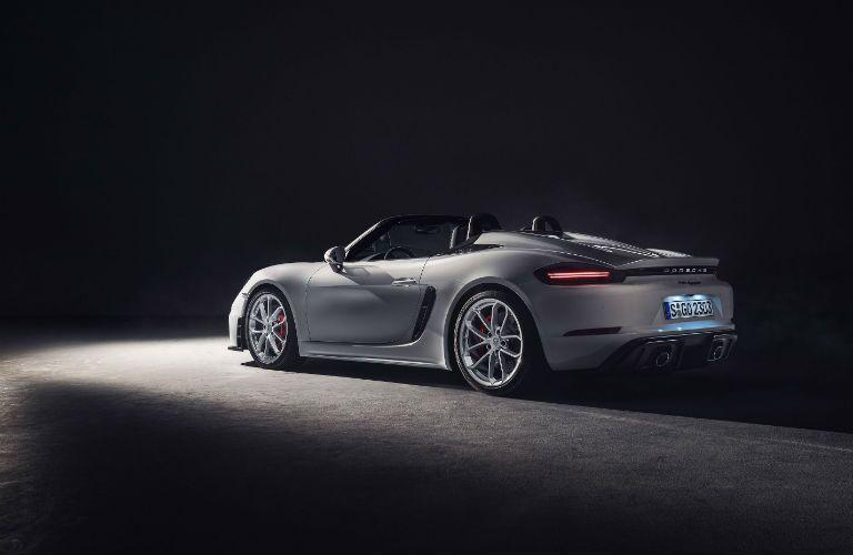 2020 Porsche 718 Spyder Exterior Driver Side Rear Profile