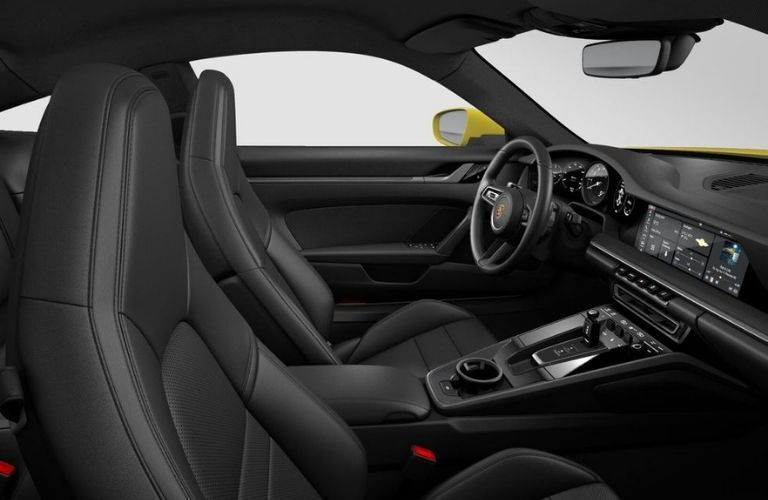 Interior view of 2020 Porsche 911