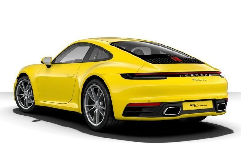 2020 Porsche 911 Carrera viewed from rear