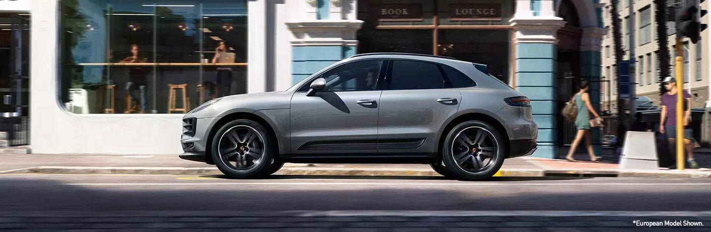 2020 Porsche Macan driving on city streets