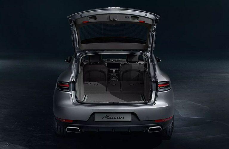 2020 Porsche Macan tailgate and cargo space showcase