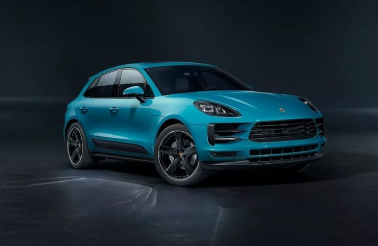 2020 Porsche Macan in blue