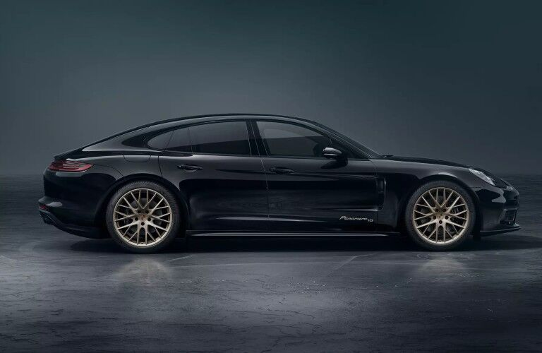 Side view of black 2020 Porsche Panamera