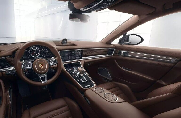 Interior view of 2020 Porsche Panamera Turbo