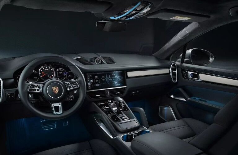 Steering wheel and dashboard in 2020 Porsche Cayenne Coupe